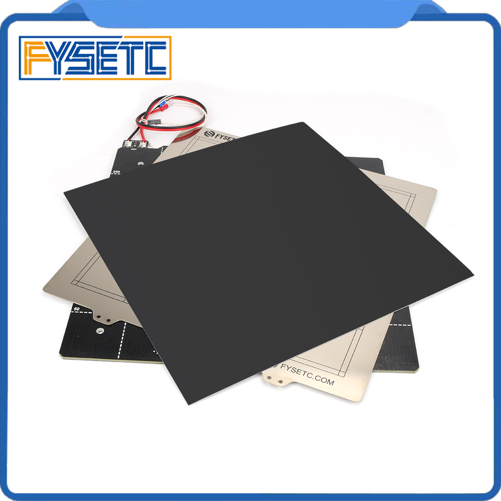 3D Printer Magnetic Heated Bed 24V Wiring Thermistor Kit With Steel Sheet 300*300mm For Creality CR-10 CR10 BLV MGN CUBE Printer