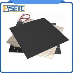 Impresora 3D cama caliente magnética 24V cableado termistor Kit con chapa de acero 300*300mm para la CR-10 Creality CR10 BLV MGN CUBE impresora