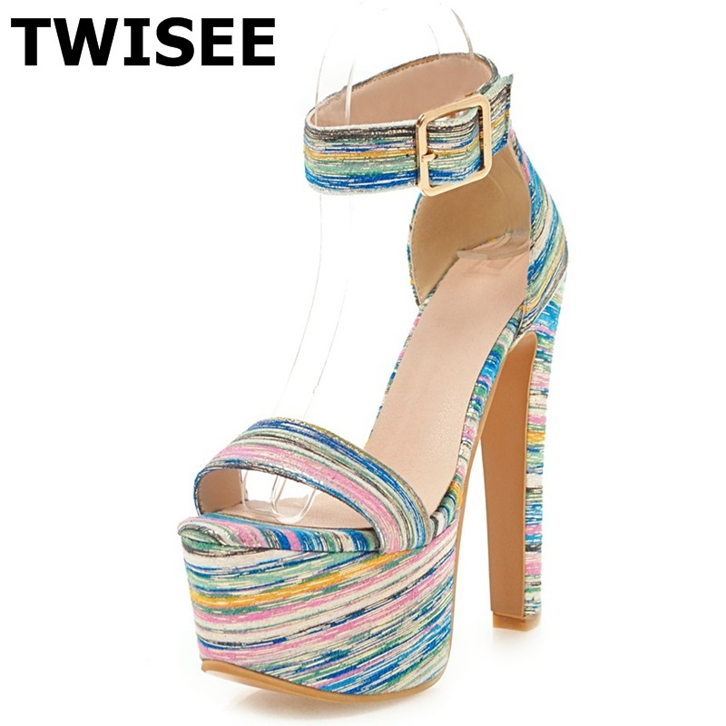 TWISEE Summer ladies shoes Peep Toe women's shoes Super High young daily shoes Shallow wedding pumps chaussure femme talon