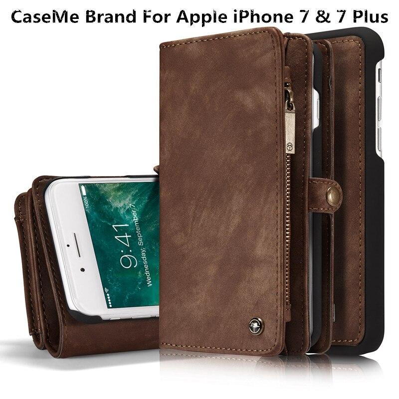 Pro Apple iPhone 7 a 7 Plus Pouzdra Luxusní Originální Kožený Řemeslný Telefon Cover Wallet Magnet Flip Stent Card Pouzdra pro iPhone 7
