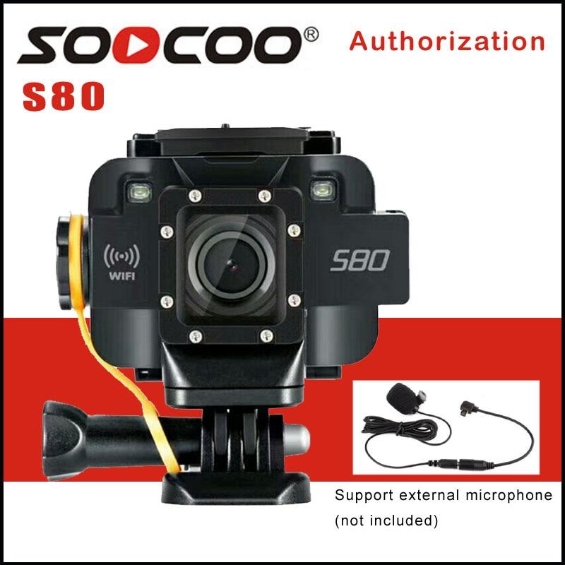 SOOCOO S80 Wifi 1080 p Action Caméra 1.5 Écran Étanche 20 m Vidéo Starlight Nuit Aide à la Vision Microphone Sport DV Caméra