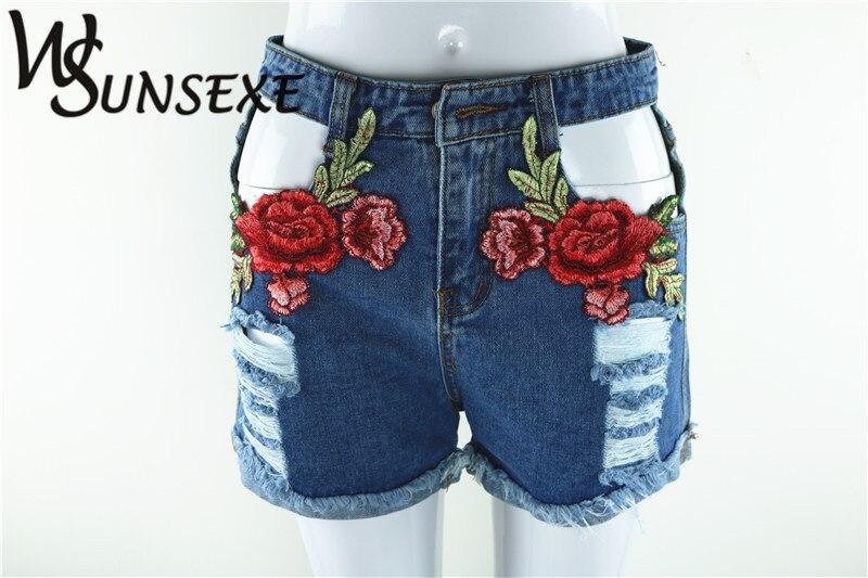 HTB1oHJ4RpXXXXXSXFXXq6xXFXXXq - High Waist Shorts Denim Jeans Embroidery PTC 265