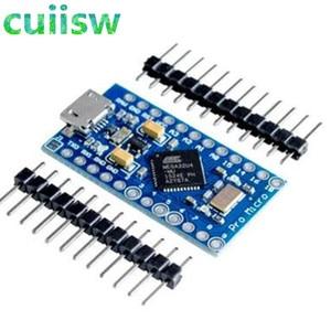 Image 1 - 5PCS Pro Micro ATmega32U4 5V 16MHz Replace ATmega328 For arduino Pro Mini With 2 Row Pin Header For Leonardo Mini Usb Interface