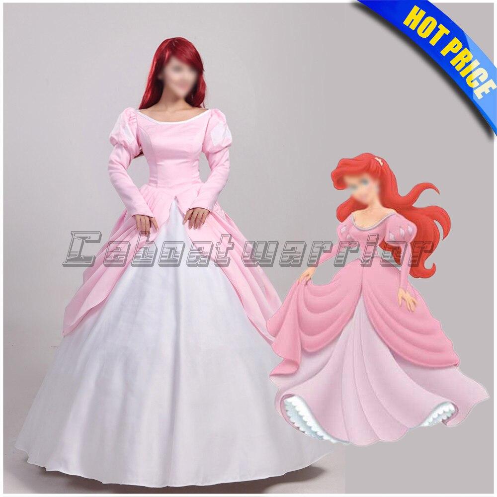 Princesa sirena Ariel dress película La Sirenita Cosplay por encargo ...