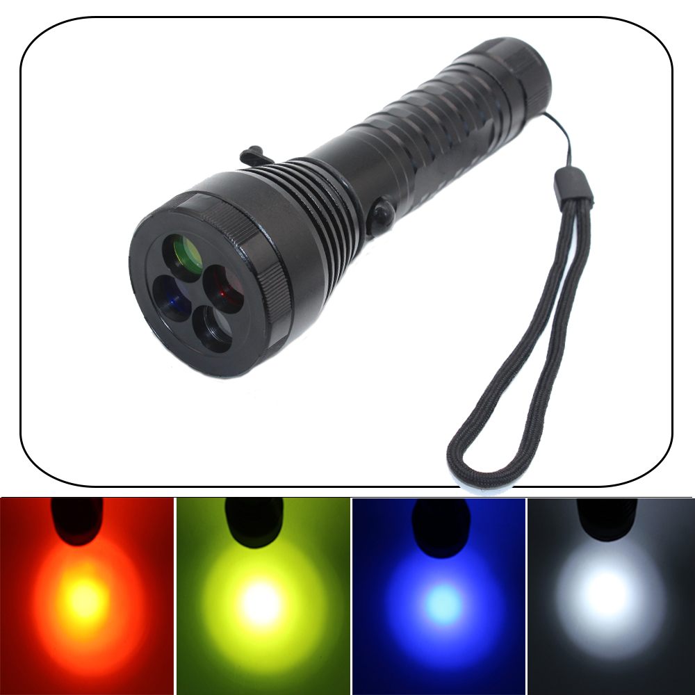 powerful led flashlight Cree XML T6 2000 lumen led linternas 4 color filter Emergency Signal Light camping by 18650 or AAA фонарик tomtop xml t6 2200lm 5 linternas & hx318a 2200lm flashlight hw 30