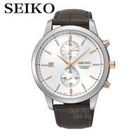 SEIKO Watches Chronograph Watches Quartz Watches Business Casual Belt Watches SNN277J1