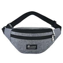 Men Women Waist Fanny Pack Sport Travel Belt Zipper Bag Crossbody Ladies Belly Bags Purse Small