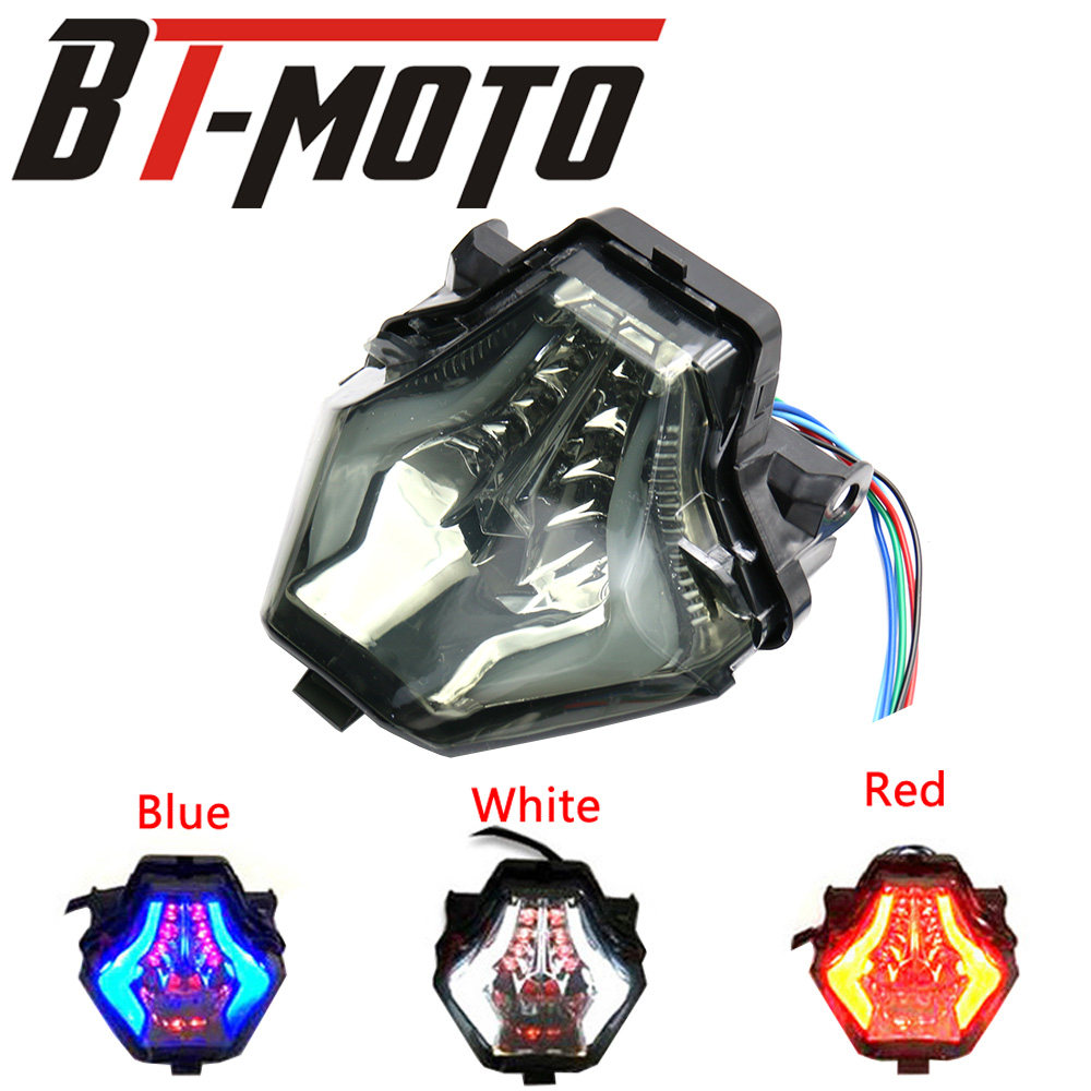 For YAMAHA MT-07 FZ-07 MT07 FZ07 2014-2016 YZFR25 YZFR3 R25 R3 2014-2017 Integrated LED Tail Light Turn Signal Blinker Lamp