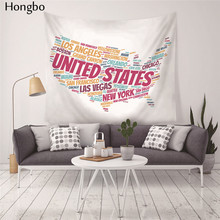 Hongbo World Map Printed Polyester Wall Hanging Tapestry Room Decorative Wall Tapestry Carpet Beach Towel Rectangle Tablecloth new printed wall hanging tapestry world map tapestry beach towel blanket carpet rectangular tablecloth room decorative tapestry