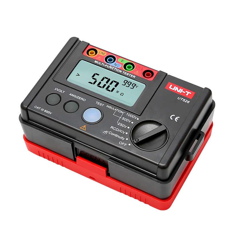 UNI-T UT526 multifunctionele digitale elektrische meter Elektrische Isolatie Tester UT526 Aarde Weerstand Meter + RCD Test Machine