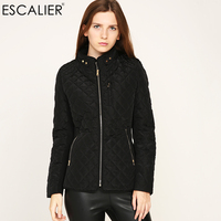 ESCALIER 2017 Winter Parkas Basic Bomber Jacket Women Warm Down Coats Zipper Boyfriend Version Female Outwear