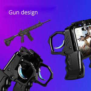 Image 2 - PUBG Mobile Joystick Gamepad Gun type Grip PUBG Controller For Phone L1R1 Trigger Fire Buttons For iPhone Android IOS
