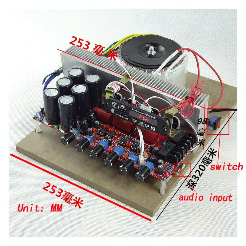 High-power home amplifier 2.1 channel amplifier heavy bass hifi amplifier ILM3886 fever Bluetooth amplifier rockford punch 1 channel amplifier