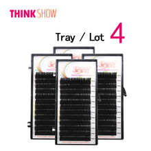 Get more info on the 4 Trays All Size Silk Volume Eyelashes Extension Russia 3D Individual Eyelash Natural Color False Eye Lashes Free Shipping