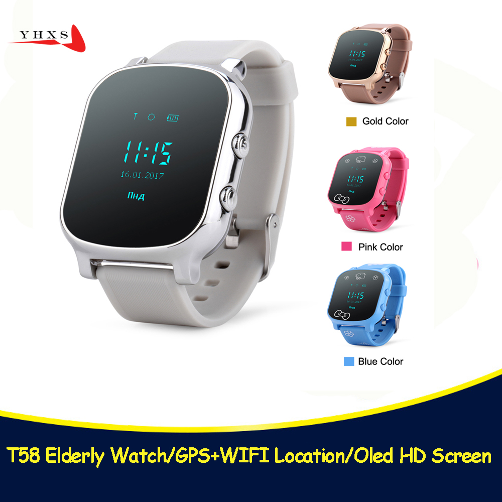 Smart Kid Safe OLED Watch SOS Call GPS WIFI Location Finder Tracker for Child Elder Anti-Lost Remote Monitor Baby Wristwatch T58 new colors oled screen t58 smart gps wifi tracker locator anti lost sos remote monitor watch for kids child student wristwatch
