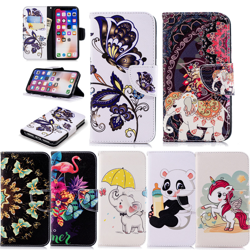 Howanni Leather Phone Case For Huawei Honor 7C Case 5.99 inch Colorful Flip Wallet Stand Cover For Huawei Honor 7C Cover Capa