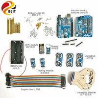 Wifi Control Kit With Wifi Module UNO Board Motor Driver Board Ultrasonic Sensor Tracking Module Buzzer