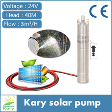 384w 40m lift 24 volt dc solar water submerged pump for deep well