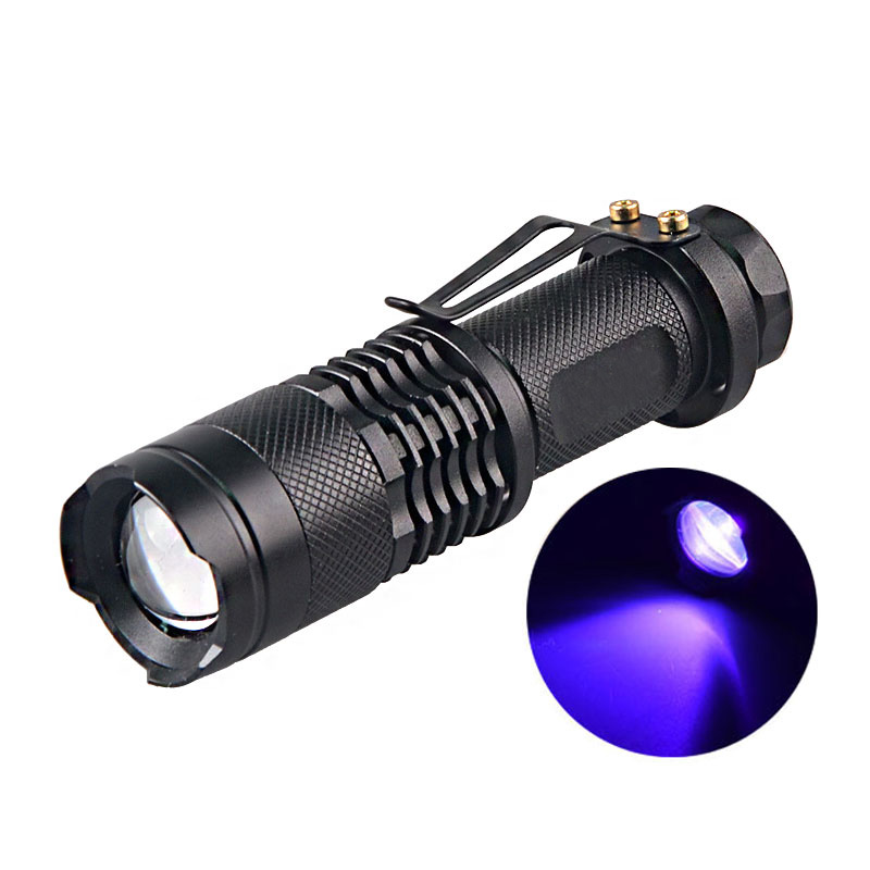 Lights & Lighting Collection Here Portable 9 Led Uv Flashlight Torch Ultra Violet Light Mini 4 Colors Uv 395nm Lamp Torch Aaa Battery For Marker Checker Detection Led Flashlights