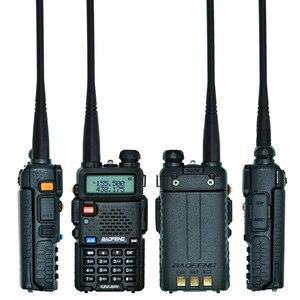 Image 4 - Baofeng UV 5R Walkie Talkie Çift Bant UV5R Taşınabilir CB Radyo Istasyonu El UV 5R UHF VHF Iki yönlü Radyo avcılık Amatör Radyo
