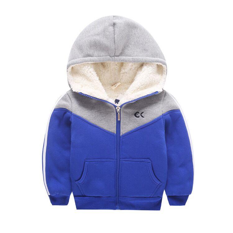 Boy Boer wool coat winter 2017 children's clothing brand warm hooded knit jacket kids clothing coat children's clothes