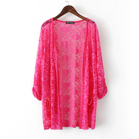 plus size 4XL drop shipping summer autumn long knitted thin cardigan sweater air conditioning cape sun protection blusas