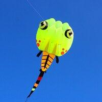 Бесплатная доставка Большой Головастик кайт Nylon Ripstop Открытый летающие игрушки Птица воздушных змеев для взрослых Осьминог Кайт Ветроуказа