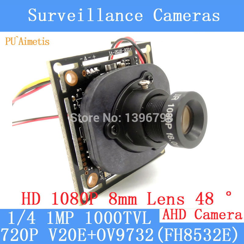 PU`Aimetis 720P AHD 4in1 1000TVL OV9732 CCTV Camera Module 1080P 8mm Lens Video surveillance camera IR-CUT dual-filter switch pu aimetis 4in1 1000tvl ahd cctv camera module 3mp 3 6mm lens pal or ntsc optional surveillance camera ir cut dual filter switch