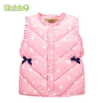 Winter Children Girls Vests Sleeveless Outerwear Jackets Cotton Warm Kids Vest For 3-8 Years Girl Waistcoat Childrens Clothes