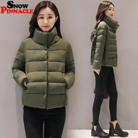 SNOW PINNACLE 2017 Autumn Winter Jacket Women Casual Warm Thicken Solid Short Style Cotton Padded Parkas