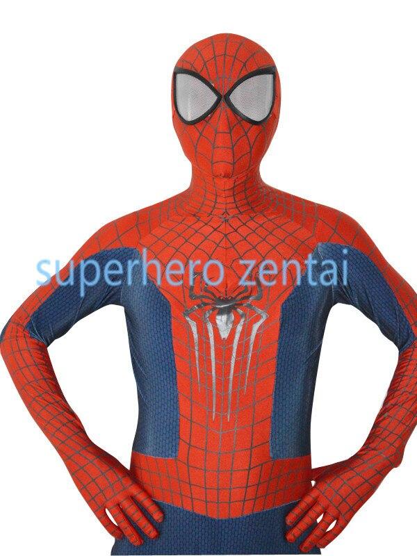 The most classic <font><b>Amazing</b></font> <font><b>spiderman</b></font> <font><b>2</b></font> costume 3D Print Spandex pattan spidermen Catsuit adult/kids/custom Free shipping