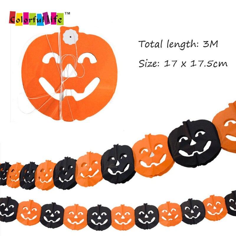 3M Halloween Spider Pumpkin Scary Witch Garland Halloween