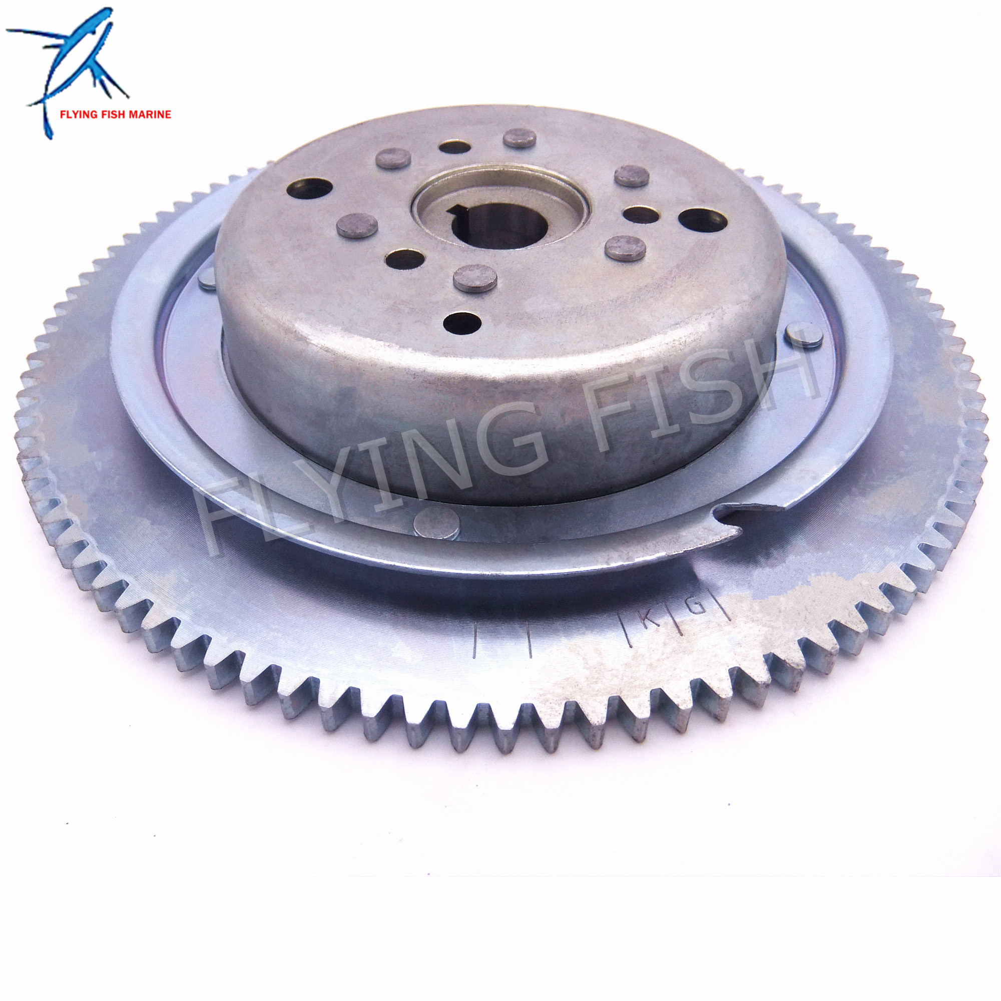 Outboard Engine T36-04000500W Electric Start Flywheel Rotor Assy for Parsun 2-Stroke T36 T40J Boat Motor