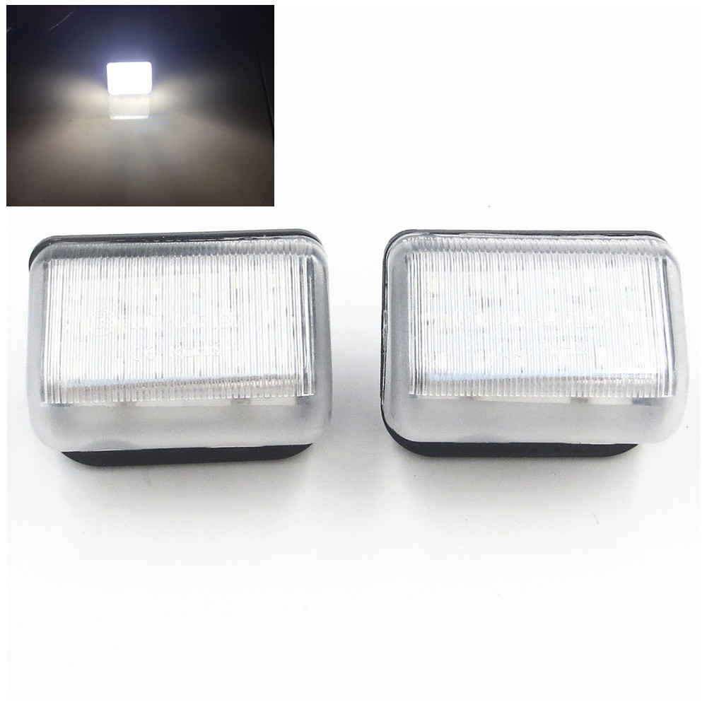 CYAN SOIL BAY 2pcs Xenon White OE-Replace LED License Plate Lights For Mazda CX5 CX7 6 Mazdaspeed6 deechooll 2pcs wedge light for mazda 2 3 5 6 mx5 rx8 cx7 626 gf gg ge gw canbus t10 57smd 6w led clearance xenon lighting bulbs