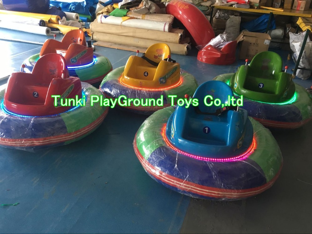 Amusement Park Kids Ride Inflatable UFO Star Bumper Car For Sale