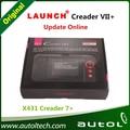 Transporte rápido grátis! Lançamento X431 Creader Vii + Crp123 Scanner de código Obd2 leitor Auto ferramenta de diagnóstico de carro