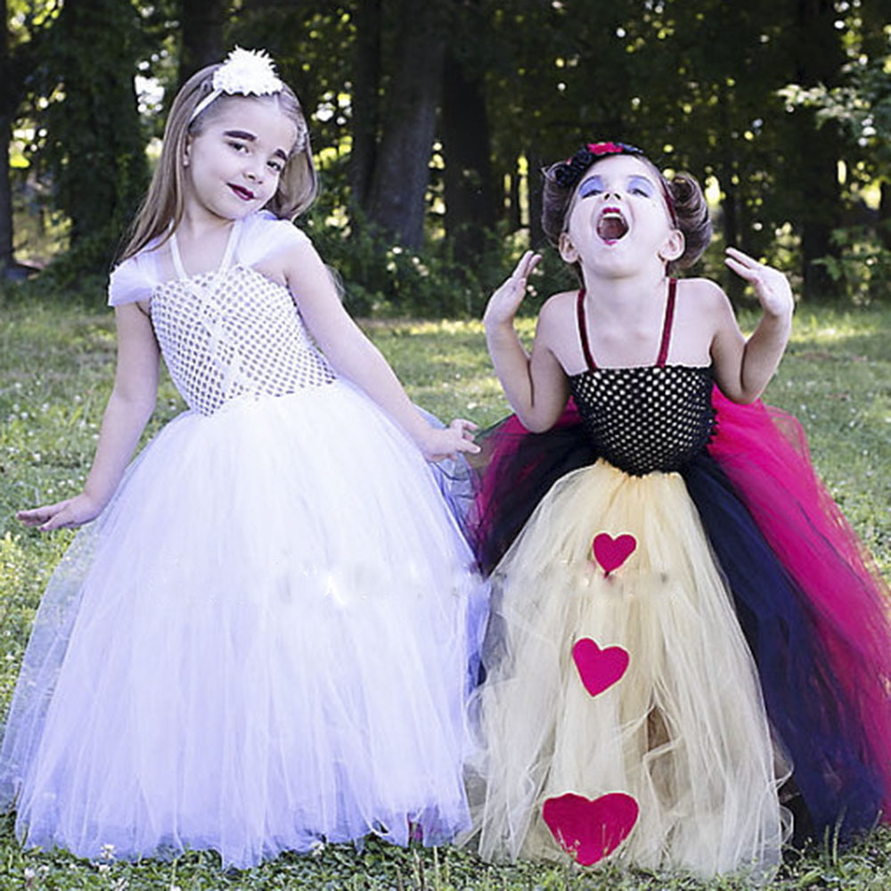 Wild Hearts Inspired Queen Cosplay Tutu Dress Baby Girl Alice Princess Birthday Party Tutus Halloween Costume or Valentines Day fancy girl mermai ariel dress pink princess tutu dress baby girl birthday party tulle dresses kids cosplay halloween costume