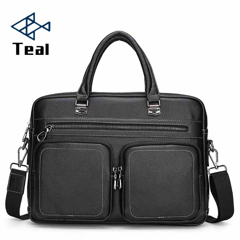 2020 New Designer Men's Briefcase Satchel Bags For Men Business Fashion Messenger Bag 14' Laptop Bag Shoulder Bags Male