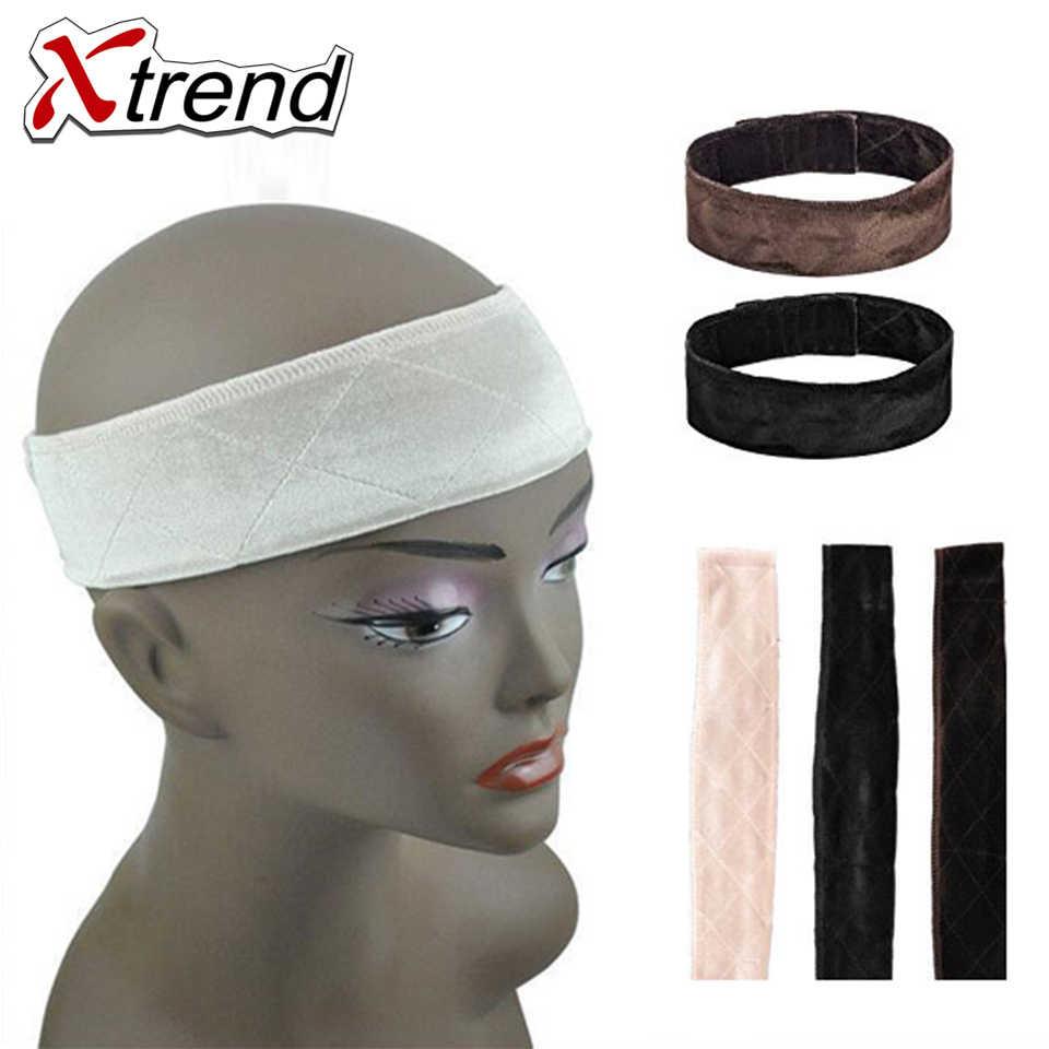 Регулируемый эластичный комфортные ленты застежка на крючок и петлю Регулируемый парик и шарф сцепление комфорт сцепление повязка под парик