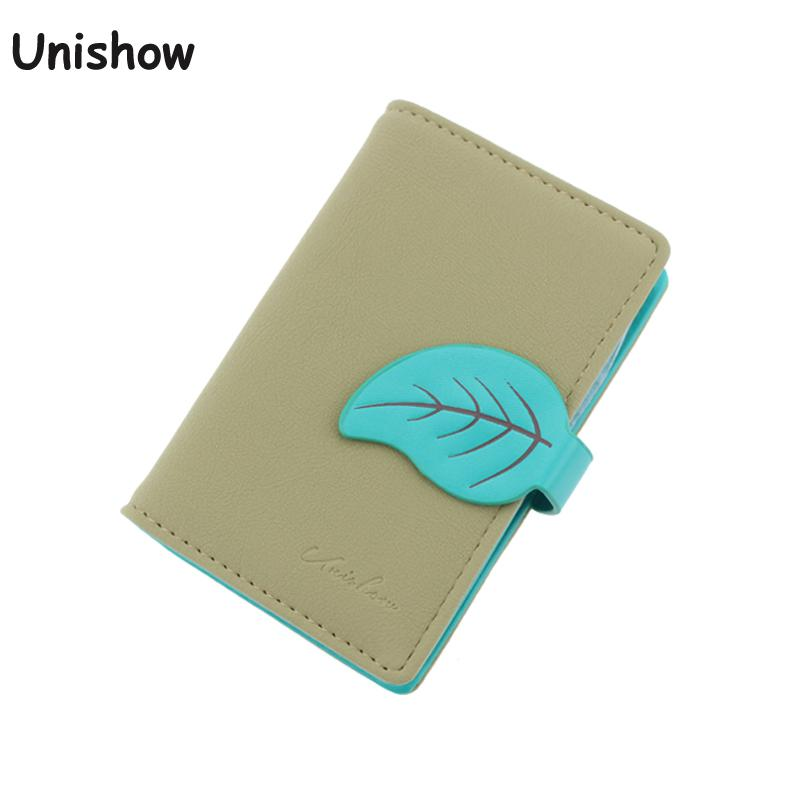 Unishow card holder Pu leather ID girl card wallet