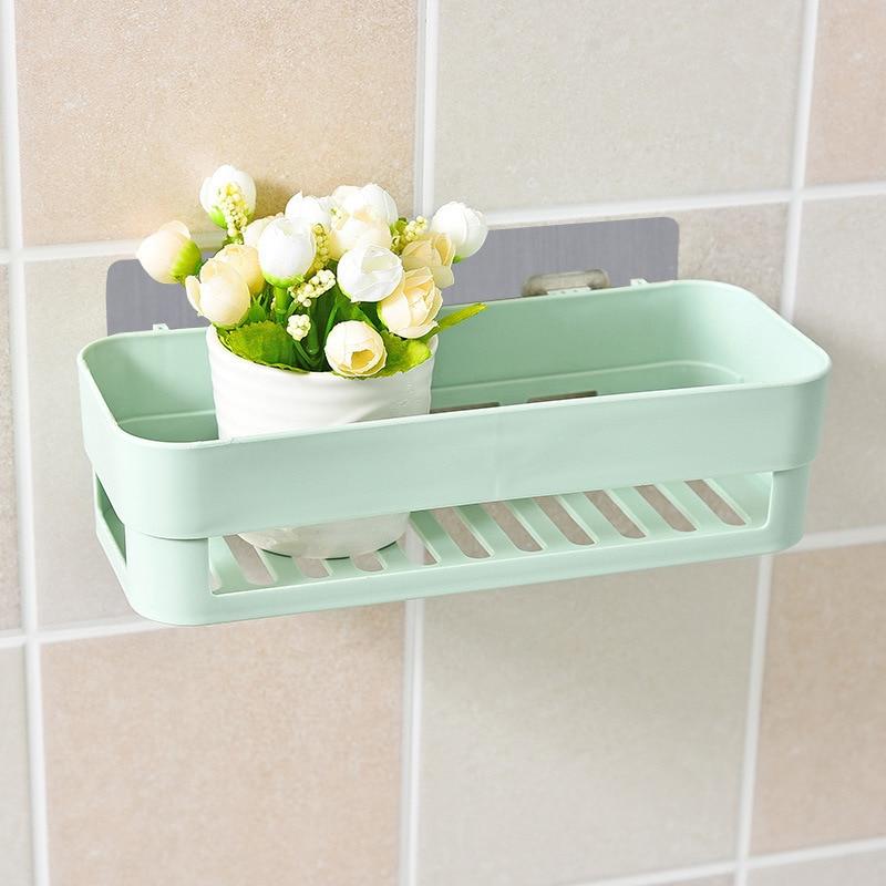 Bathroom Wall-mounted Racks Free Of Punching No Trace Storage Rack Toilet Bathroom Storage Rack Household Items