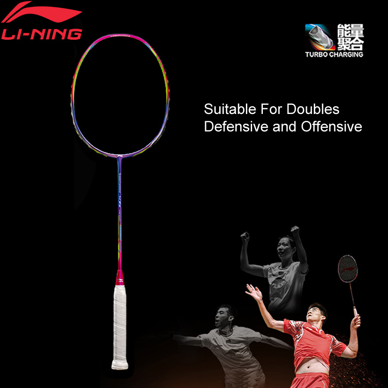 Li-Ning Turbo Charging N7II Professional Badminton Racket Offensive And Defensive LiNing Sports Racket AYPM028(AYPM398) ZYF187