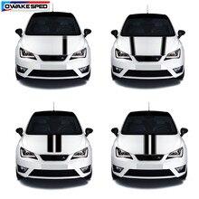 Autocollant en vinyle à rayures pour capot de voiture, décoration de capot de voiture, pour Seat Leon Mii Ibiza FR TGI ST Cupra