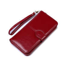 Brand Designer Wristband Wallets Women Many Departments Clutch Wallet Female Long Large Card Purse Ladies Hand Phone bag
