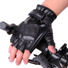 Man Women Cycling Leather Fingerless Gloves Rubber Protective Soft Outdoor Half Finger Gloves Elastic Thin Summer Gloves strong 0 35mmpb medical x ray protective gloves ray workplace use gloves lead rubber gloves