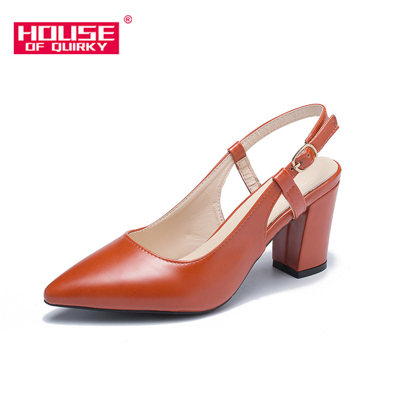 Spring New Women High Heels Outdoor Fashion Shoes Shallow Mouth Leisure Women Shoes Professional Work Shoes Buckles Size34-39