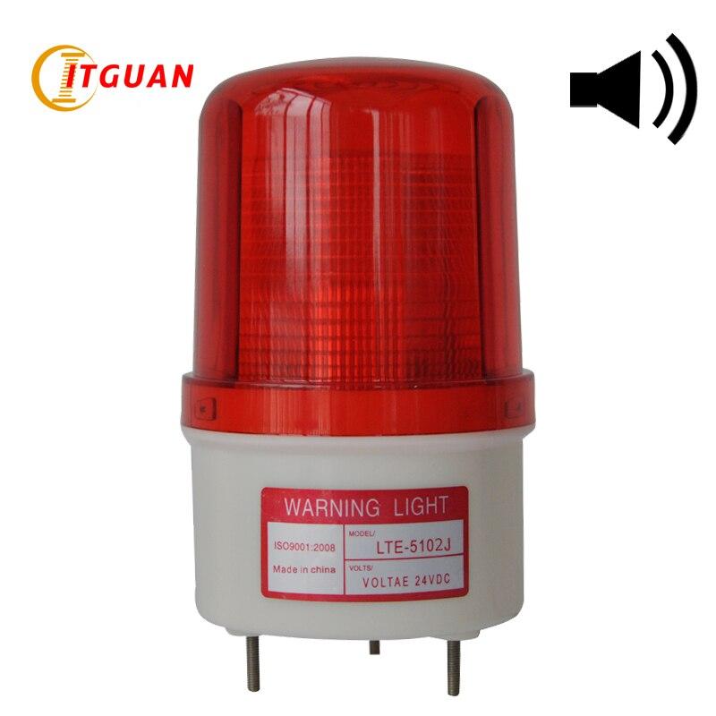 LTE-5102J Signal Warning Light LED With Sound Strobe Warning Lamp DC24V Bolt Bottom LED Strobe Light ltd 5071 dc12v warning light emergency strobe light warning light