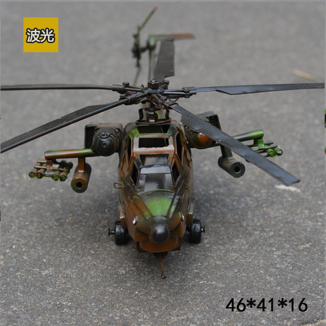 US $138 7 5% OFF Home Bar Decoration Vietnam War United States Helicopter  Iron Plane Model Rare Collection Aircraft Models 2 Color-in Statues &