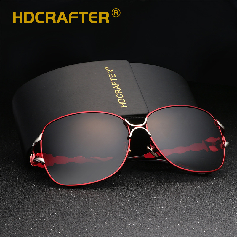 2017 HDCRAFTER Female Polarized Sunglasses Women Luxury Alloy Frame Eyewear  Retro Lady Oculos De Sol With Case-in Sunglasses from Apparel Accessories  on ... d9ef80af47