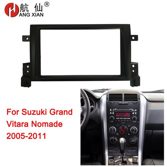 HANGXIAN 2Din Car Radio Fascia for Suzuki Grand Vitara Nomade 2005-2011 car DVD Panel Dash Kit Installation Frame Trim Bezel